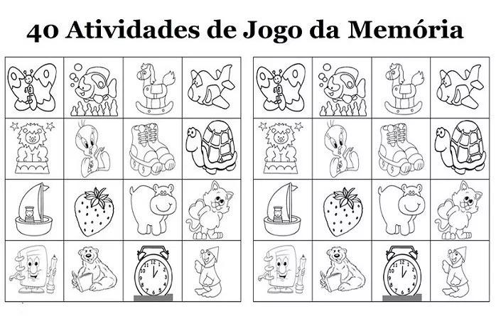 40 Jogos Da Memoria Para Imprimir Educacao Infantil E Maternal Online Cursos Gratuitos Educacao Infantil Educacao Joguinho Da Memoria