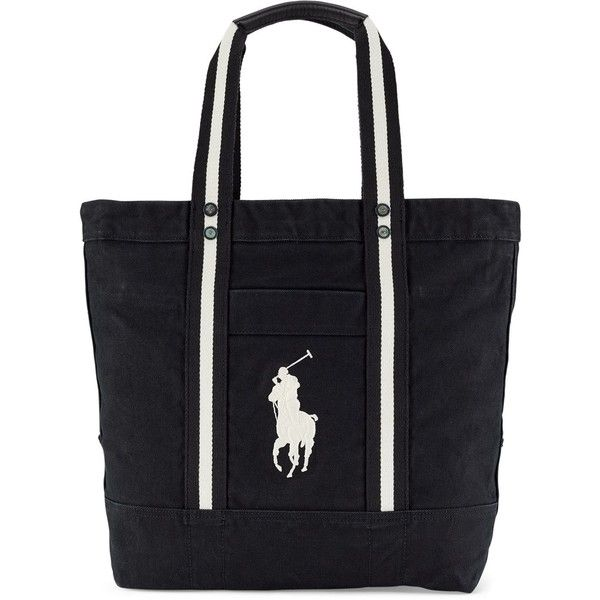 77527f121f1b ... oxford shirt 35847 8eace wholesale polo ralph lauren big pony canvas  tote featuring polyvore womens fashion bags handbags tote bags ...