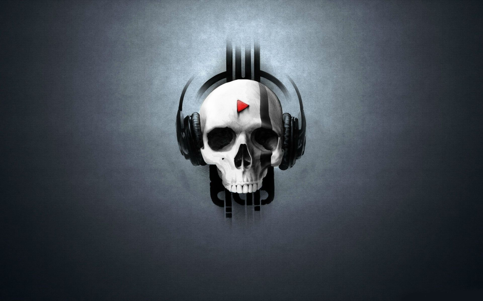 Skull Headset Music HD Wallpaper | HD Wallpaper | Pinterest | Hd ...