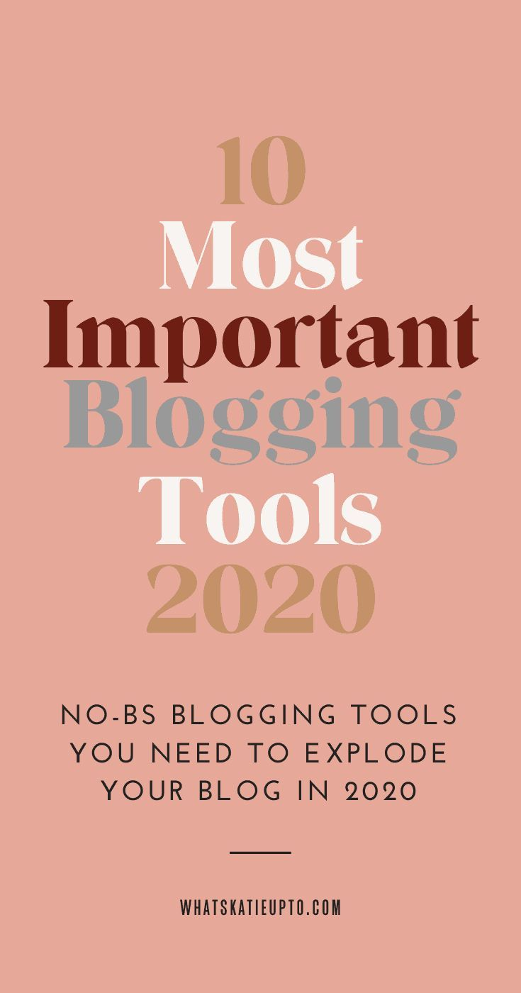 I have been blogging for over 10 years and in this post, I cover the 10 most important blogging tools for 2020. Do you want to start a Blog in 2020 but there are so many tools out there that you feel totally overwhelmed? Then let me help you. These are the tools and services I use myself on a daily or monthly basis to run my blogging business. This is an easy list for blogging beginners and includes some of my best blogging tips and secrets. Blogging Content, Blogging Hacks #bloggingtips