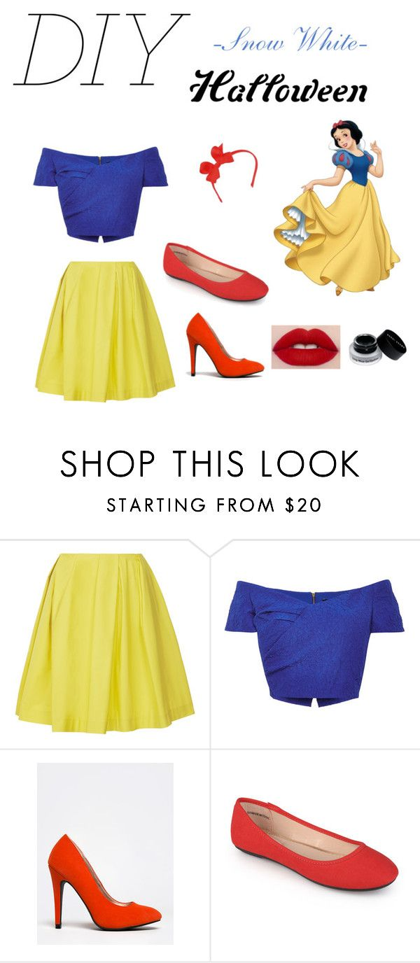 """""""Sno9w White DIY costume"""" by noeliahoran99 ❤ liked on Polyvore featuring Thakoon Addition, Saloni, Qupid, Journee Collection, Bobbi Brown Cosmetics and diycostume"""