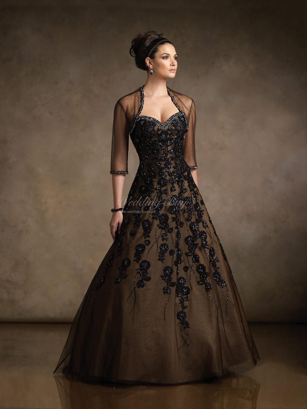 Handmade Singapore Wedding Gowns Mother Of The Bride Black Lace Ball Gown Mother Of The Bride Dresses Ball Gowns
