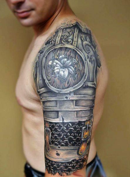 Tatuaże Męskie Zbroja 3d Tattoos Tatuaże Tatuaże Męskie