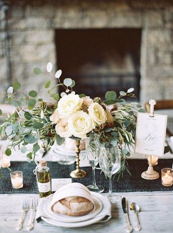 Elegantes Hochzeits Herzstück Mit Kerzen