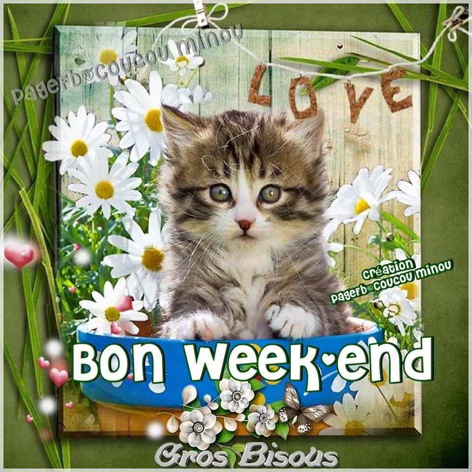 Bon Week End Gros Bisous Wochenendgrüsse Happy Weekend