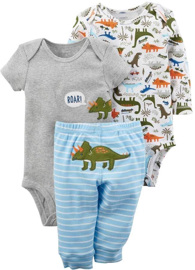 Photo of Baby Boy Carter's 3-pc. Dinosaur Bodysuit & Pants Set