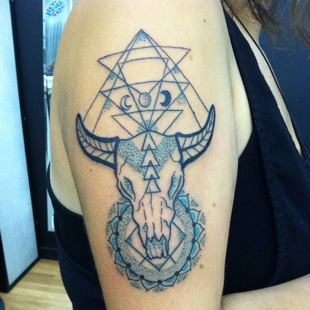 45 Astrological Taurus Tattoo Designs Strong Willed Zodiac border=