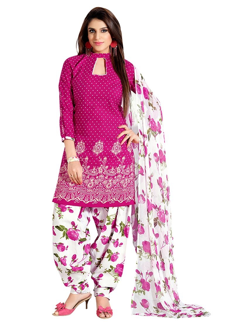 8e7a21da92 Beautiful floral print salwar kameez dress material | Casual Salwar ...