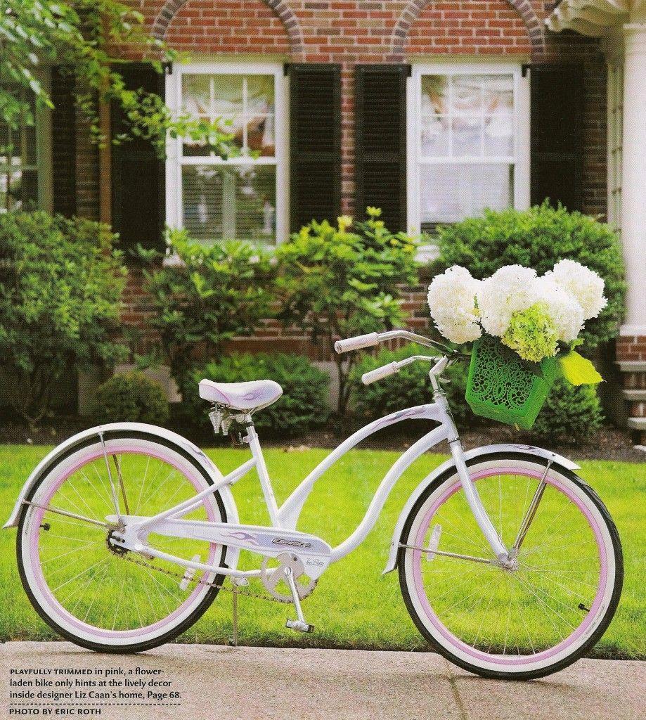 Bike with flowers | Pretty Bikes | Pinterest