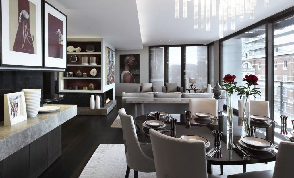 Helen Green Contemporary Apartment One Hyde Park Formal Dining Room Sets Modern Dining Room Dining Room London