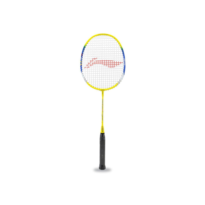 Li Ning Q10 Jr Basic Q Series Badminton Racquet Yellow Blue Best Badminton Racket Badminton Racket Badminton