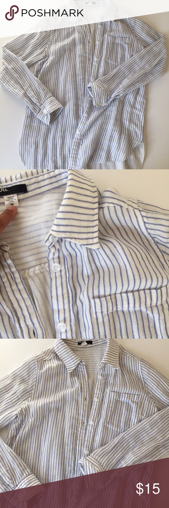 BDG striped oversized & relaxed button up! Classic & Cool button down style. Super soft with flattering vertical stripes. Bought this on posh in the fall, didn't fit me sadly. BDG Tops Button Down Shirts
