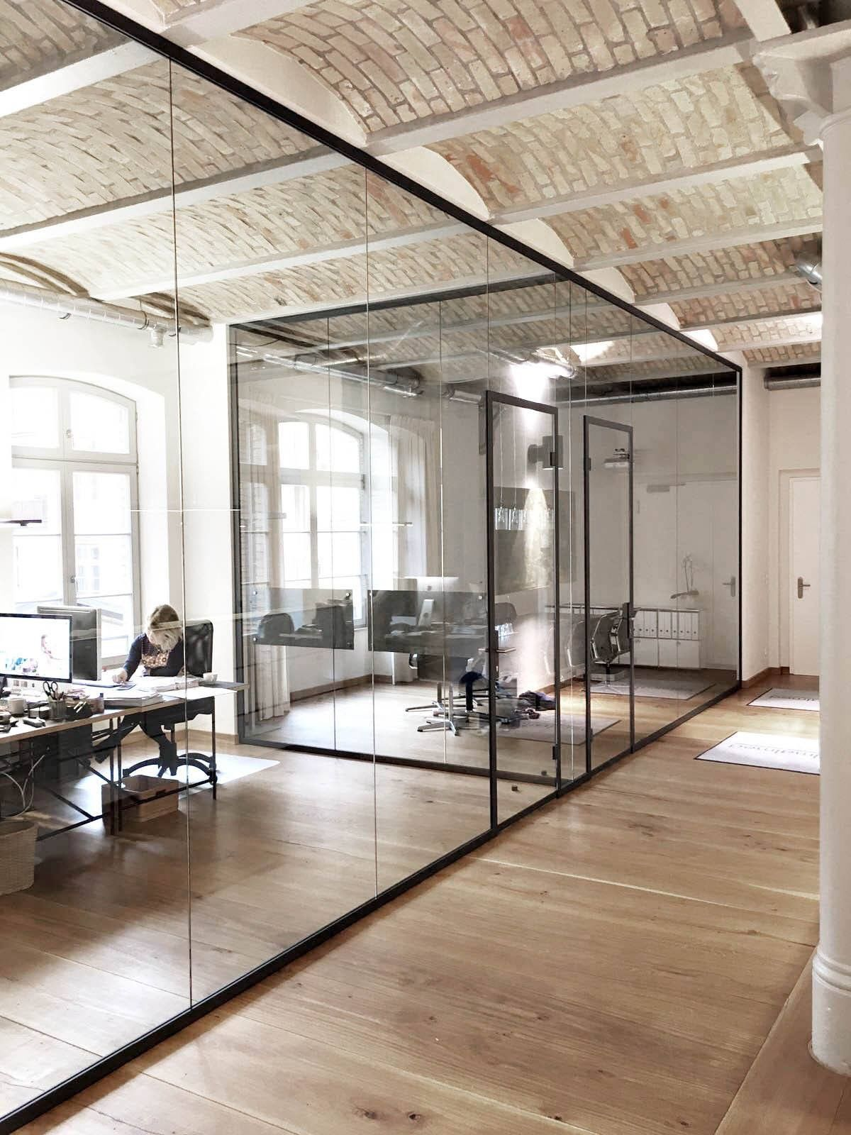 open space office design ideas. Office In Use- Neat Boxes On Floor, Bin, Desk Items. Open Space Design Ideas E