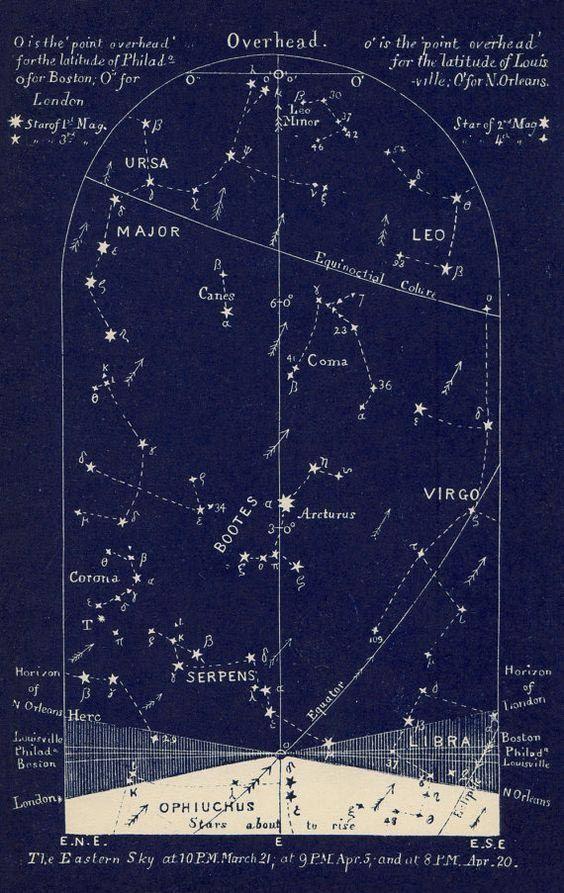 AntiqueConstellationChart  Oh    Constellation Chart