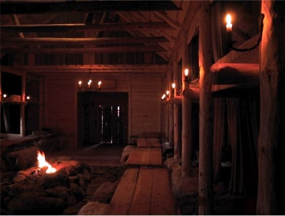 Inside A Viking Hut Viking House Viking Hall Vikings