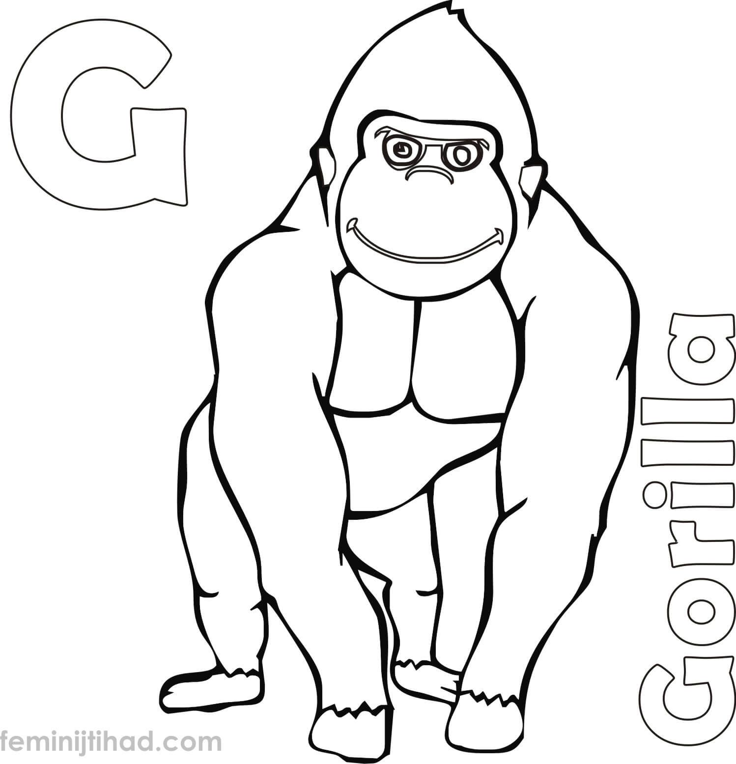 Gorilla Coloring Pages Printable In 2020 Baby Coloring Pages Family Coloring Pages Coloring Pages