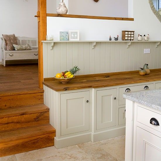 Shaker Style Countertops And Style On Pinterest: Shaker-style Kitchen With Oak Worktop