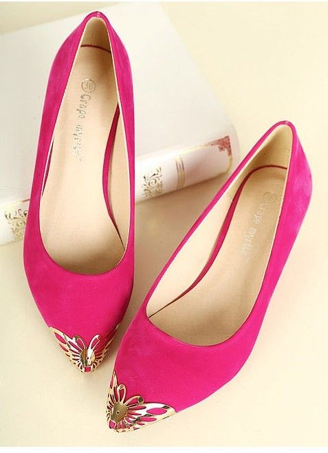2013 new candy-colored flat with pointed flat shoes shallow mouth shoes  Europe | Pink shoes flats, Pointed flats shoes, Trending shoes