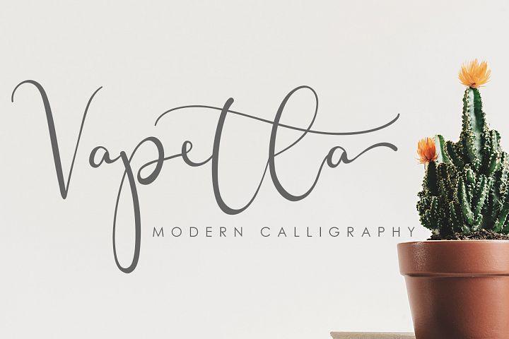 Vapetla is modern script font. with modern script style this font