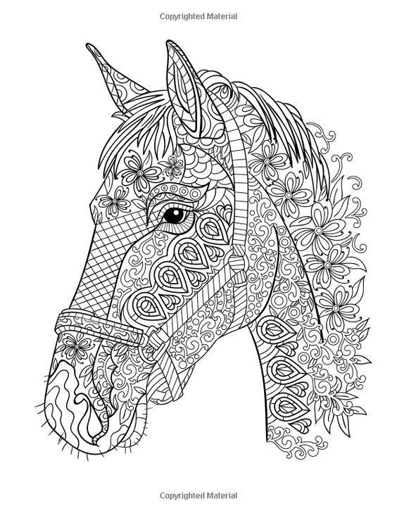 Coloriage zen coloriages pinterest - Mandala de chevaux ...