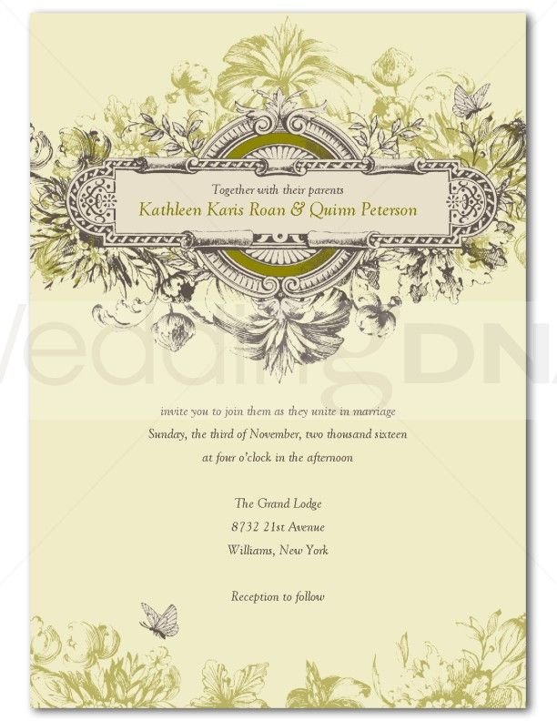 this invite looks great for a garden wedding | Wedding Ideas ...