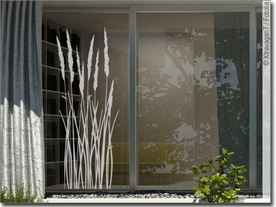 Fensteraufkleber Sommer Gras Glastattoo Sommer Fensteraufkleber Fenster Kunst Fensterfolie