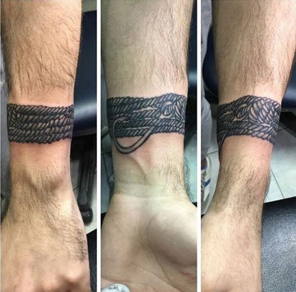 Wrist Bracelet Tattoo Men