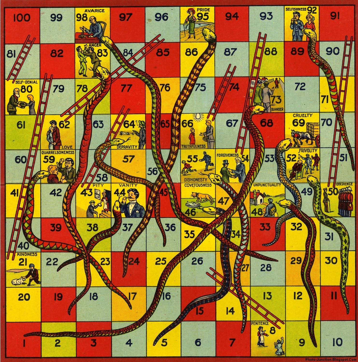 Pictures images snakes and ladders board game template wallpaper - Vintage Snakes And Ladders Board Game This Is The One I Played With