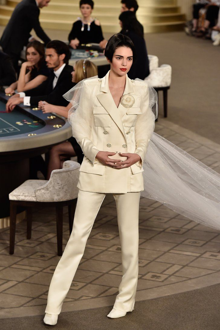 Pin for Later: You Won't Believe What Kendall Jenner Wore on Chanel's Haute Couture Runway Kendall Jenner Walked the Runway in a Bridal Tuxedo