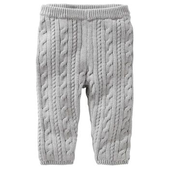 Baby Girl Oshkosh Bgosh Gray Cable Knit Sweater Leggings Baby B