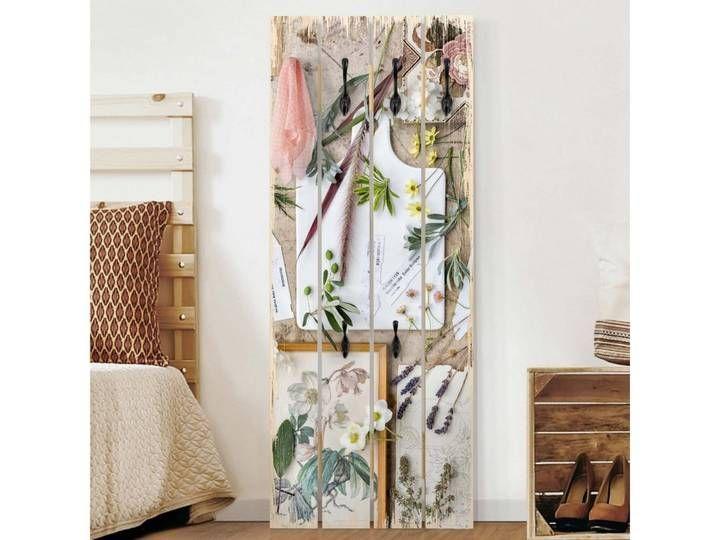 Bilderwelten Wandgarderobe Holz Top Blumen Garderoben In