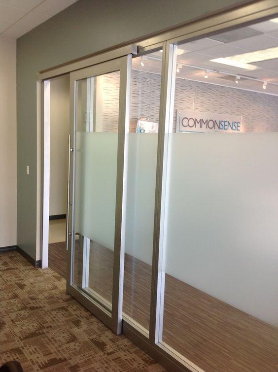 Glass Office Walls With Sliding Door By Nello #doors #office  Http://www.ironageoffice.com/