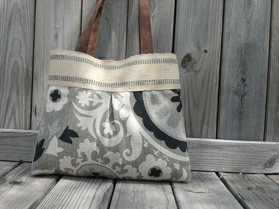 Grey and Black Floral Tapestry Suzani Pleated by DandelionHoney, $44.00