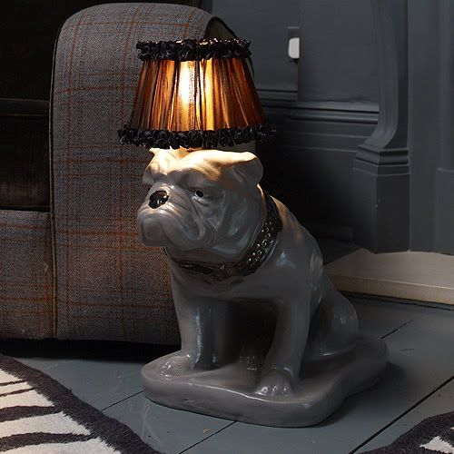 ABIGAIL AHERN BULLDOG LAMP | Naked Decor | Dog Forms by Humans ...