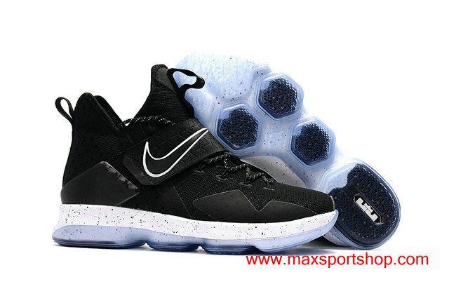 san francisco 816f1 a603a WMNS 2017 Nike LeBron XIV Black White Dots Basketball Shoes