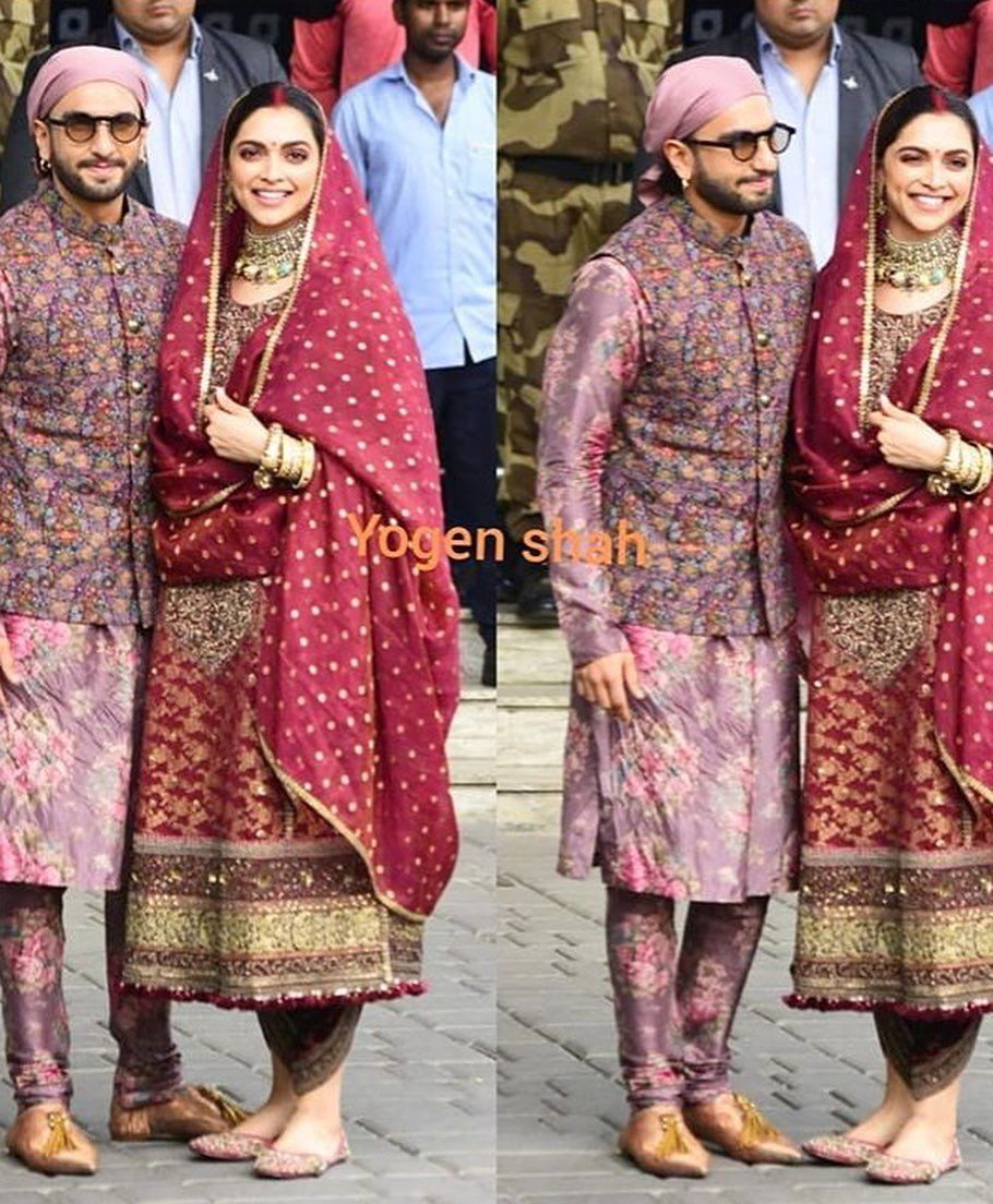 Ranveer Singh Fanbase On Instagram Beautiful Couple Ranveersingh Deepikapadukone Back In The Bay Indian Bridal Fashion Ranveer Singh Deepika Ranveer