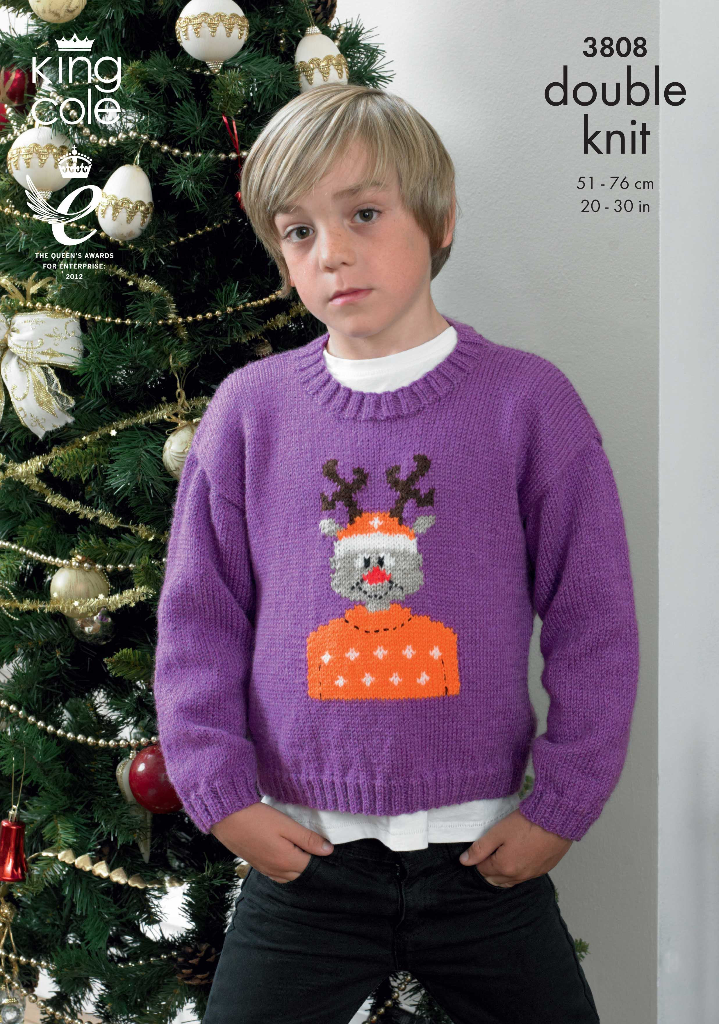 Childrens christmas jumper pattern rudolph knitted sweater king childrens christmas jumper pattern rudolph knitted sweater king cole christmas knitting bankloansurffo Image collections