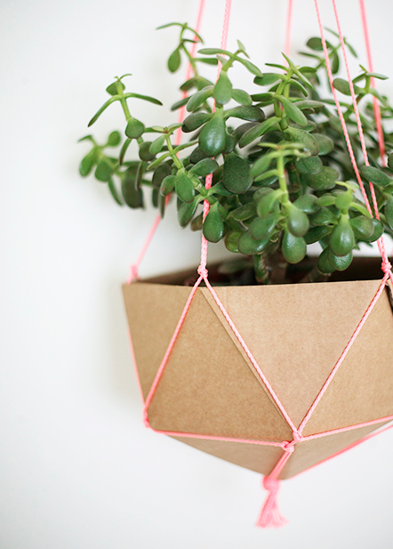 paper and string hanging baskets