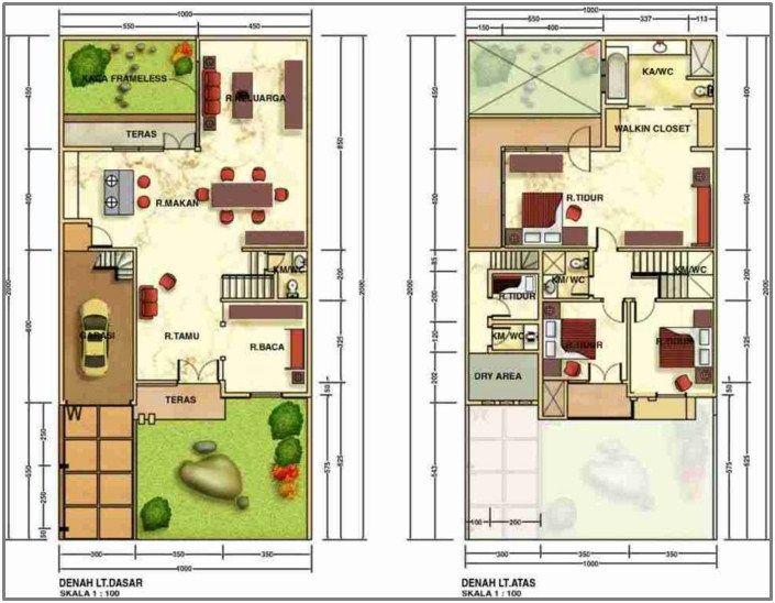 Gambar Contoh Denah Rumah Minimalis  Lantai Modern