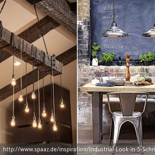 industrial look in 5 schritten typisch industrielle einrichtung vintage pinterest wohnen. Black Bedroom Furniture Sets. Home Design Ideas