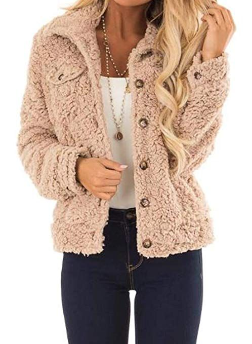 Women Ladies Light Warm and Comfy Fuzzy Jacket free shipping