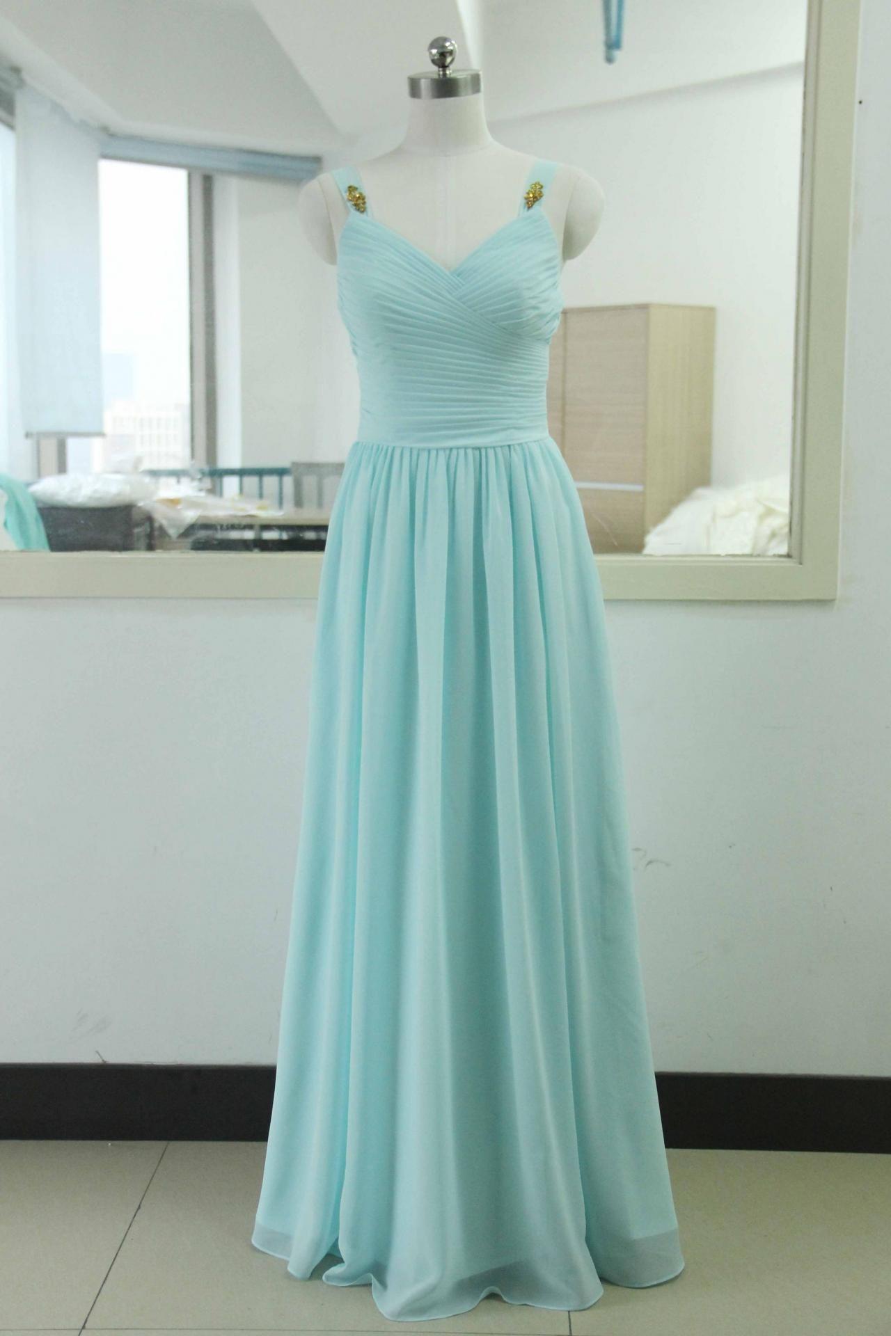 Classy Elegant Long Chiffon Prom Dresses,Charming Party Gowns ...
