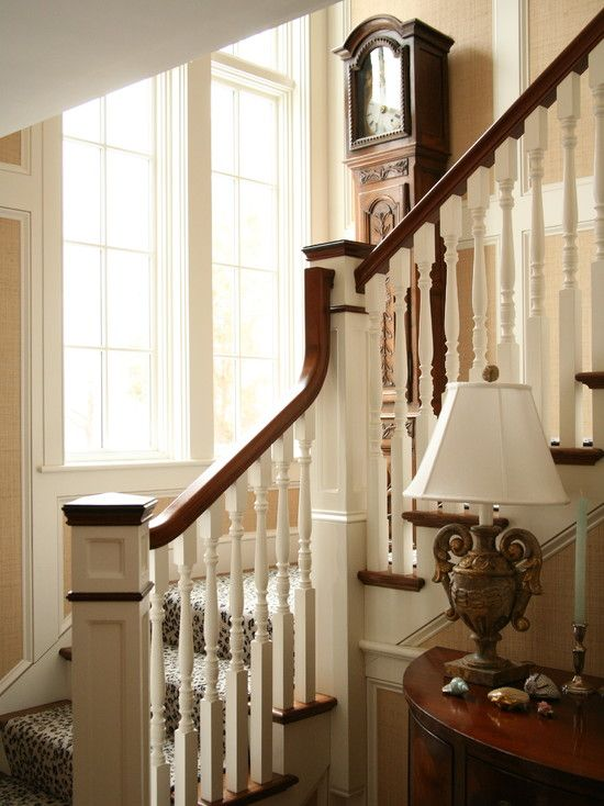 Traditional House Modern Addition Home Design Ideas Pictures Remodel And Decor: Victorian Home Design In Beautiful Appearance : Traditional Staircase Design Classic Table Lamp