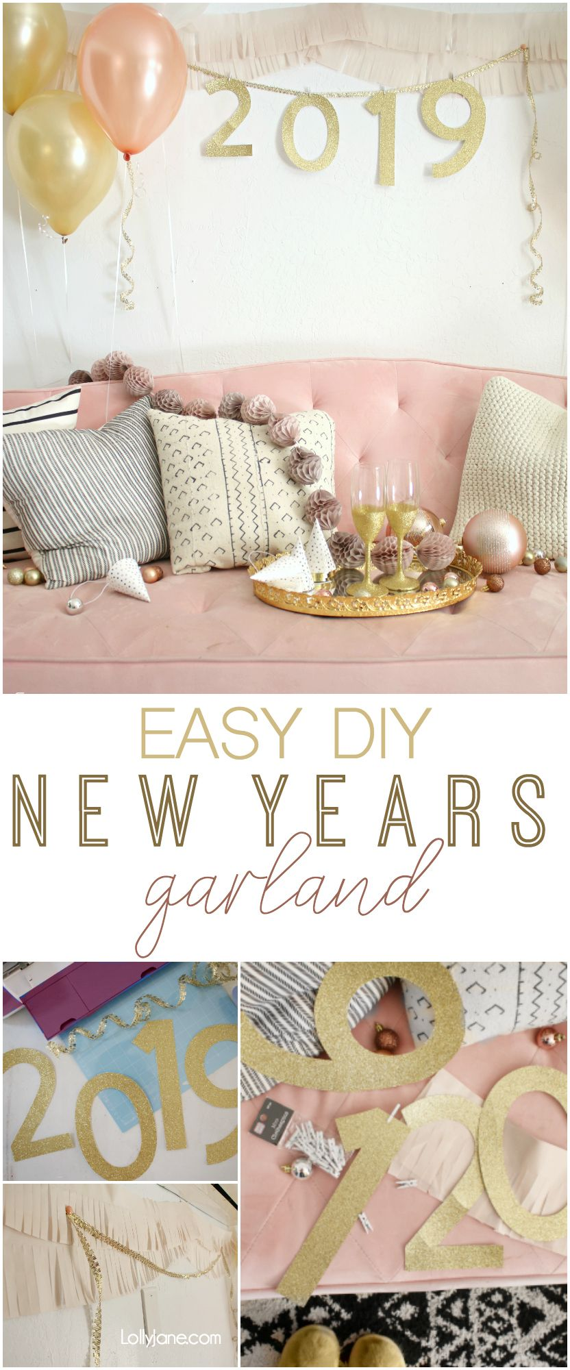 Diy New Years Eve Party Garland Lolly Jane Easy Backdrops Party Garland Backdrops For Parties