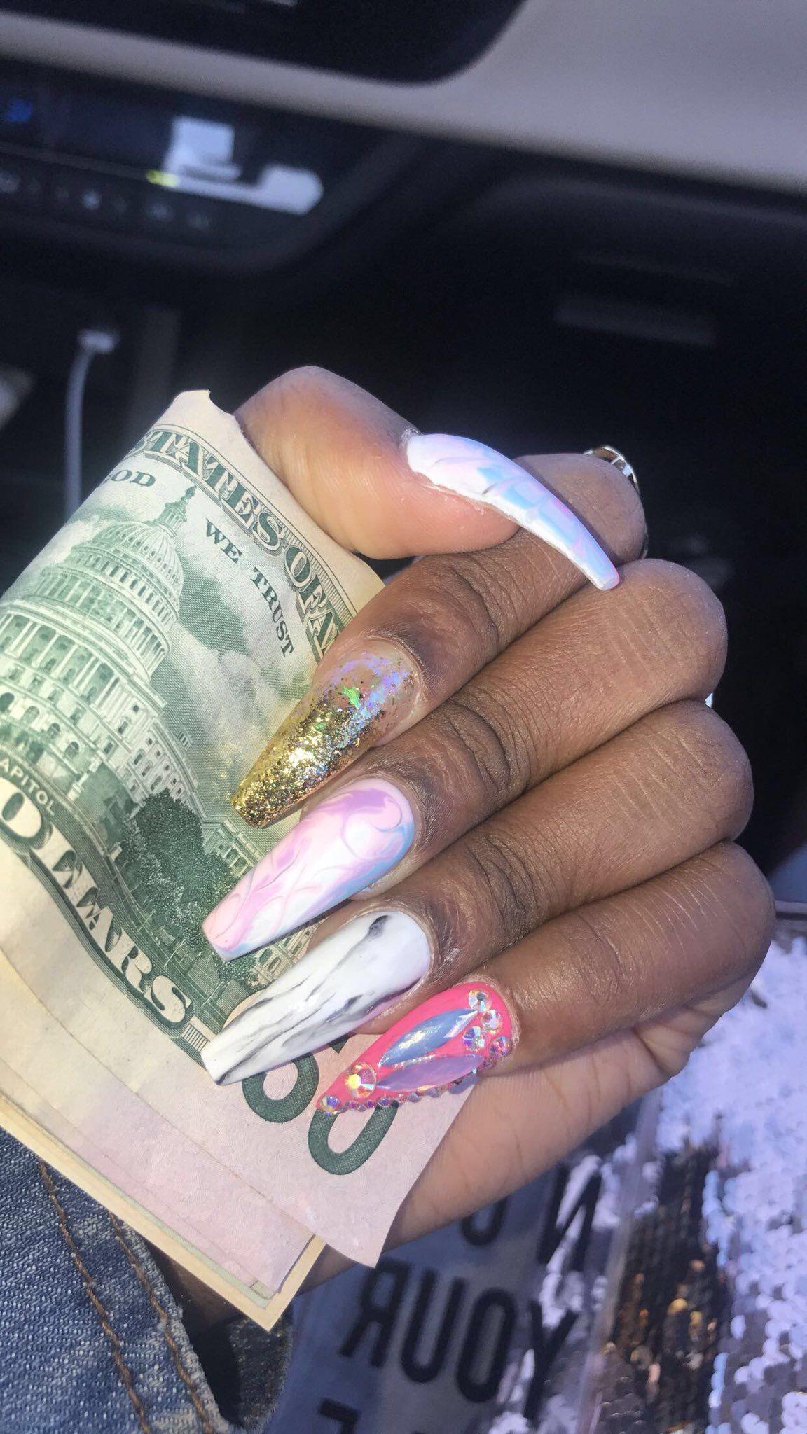 Super cute dope nails coffin nails   NailsonFLEEK ...