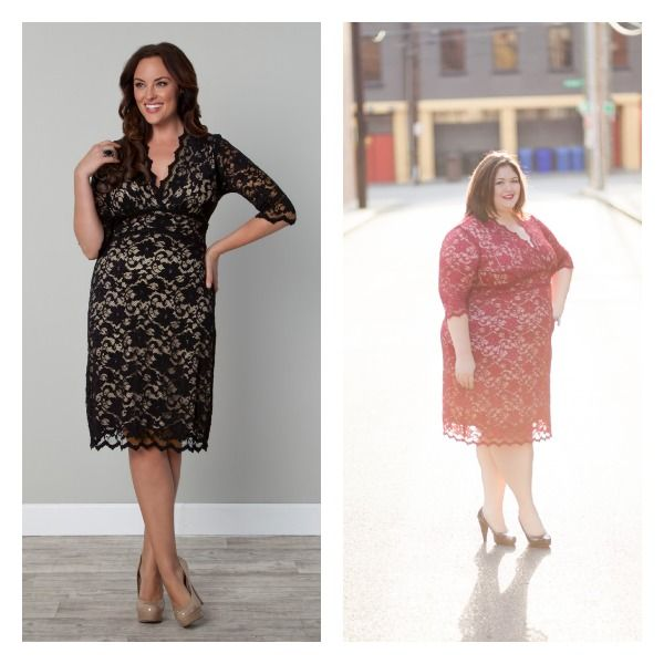 scalloped lace boudoir dress from kiyonna clothing plussize