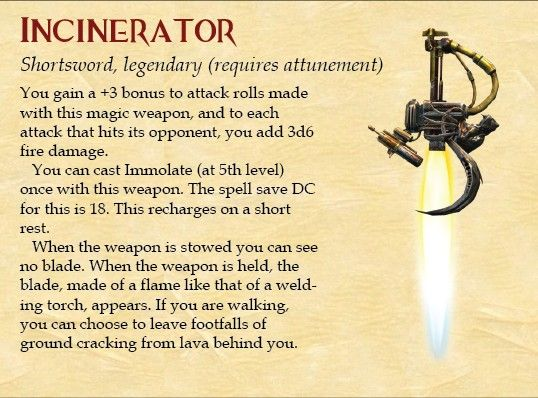 Incinerator | D&D and other RPGs in 2019 | Dnd classes, Dungeons