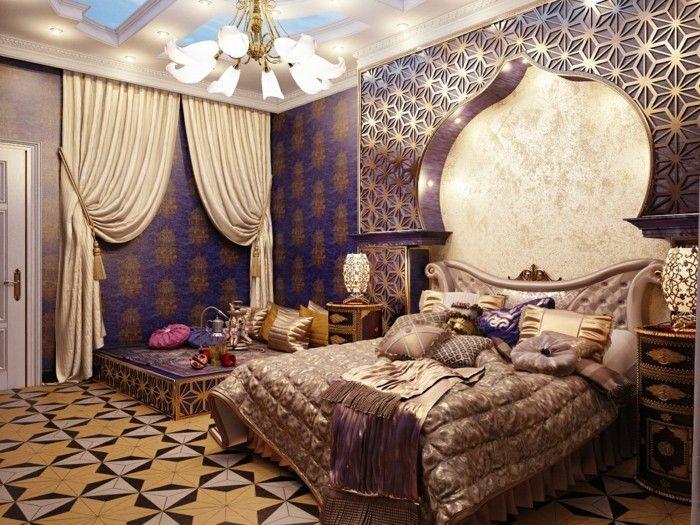Inneneinrichtung Ideen Schlafzimmer Arabischer Stil
