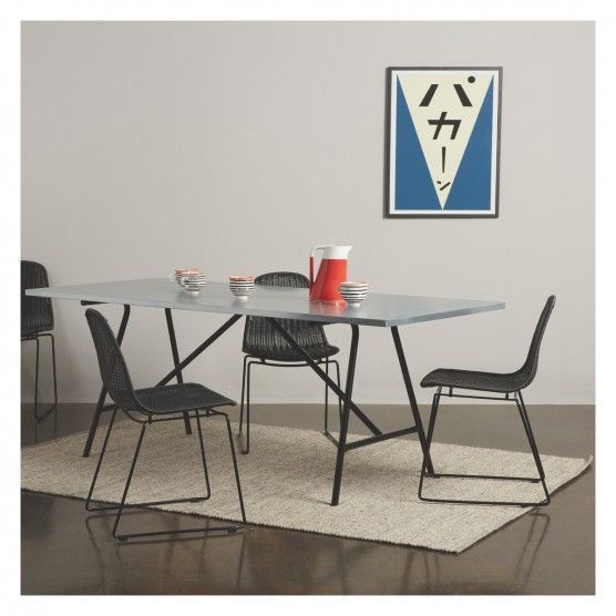 Yeoman 8 Seater Zinc Topped Dining Table Tables And