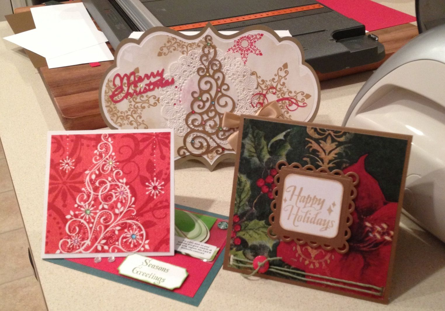 November Faux Fabric Christmas Card Class